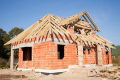 Neues Haus im Bau Lizenzfreie Stockbilder