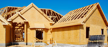 Neues Haus im Bau Lizenzfreies Stockfoto