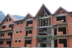 Neues Haus im Bau Stockbilder