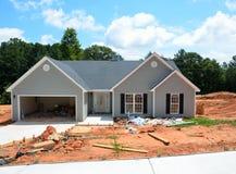 Neues Haus im Bau Stockbild