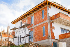 Neues Haus im Bau Lizenzfreie Stockfotografie