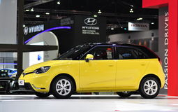 Neues Hecktürmodell MG3 an Bangkok-Internationaler Automobilausstellung Stockfotografie