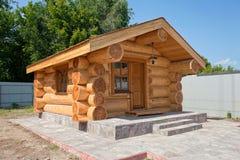 Neues Holzhaus Stockbild