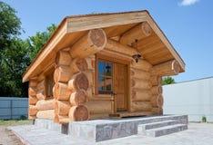 Neues Holzhaus Stockfotos