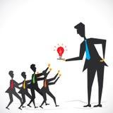 Neues Ideenkonzept Stockbild