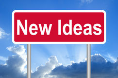 Neues Ideenzeichen Stockfotografie