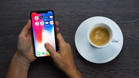 Neues iPhone X stock footage