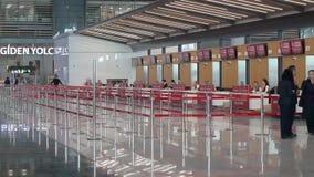 Neues Istanbul-Flughafenabfertigungsgebäude Dritter Istanbul-Flughafen stock video footage