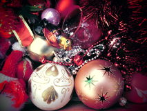 Neues Jahr Ökologische, hölzerne Weihnachtsdekorationen weinlese antiken Stockbild