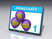 Neues Jahr 1. Januar Lizenzfreie Stockfotografie