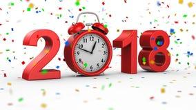 Neues Jahr 2018 lizenzfreie abbildung