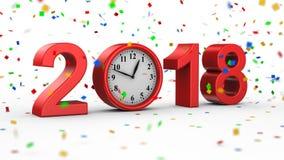 Neues Jahr 2018 stock abbildung