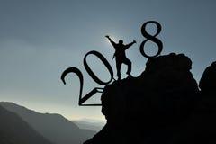 Neues Jahr 2018 stockfotos