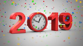 Neues Jahr 2019 lizenzfreie abbildung