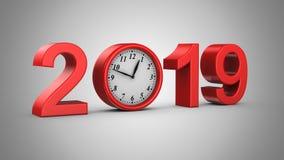 Neues Jahr 2019 stock abbildung