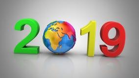 Neues Jahr 2019 vektor abbildung