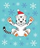 Neues Jahr 2010 des Tigers lizenzfreie abbildung