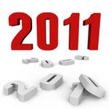 Neues Jahr 2011 über hinter einen - ein Bild 3d Lizenzfreies Stockbild