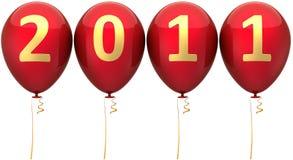 Neues Jahr 2011 Datumballone (Mieten) Lizenzfreie Stockfotos