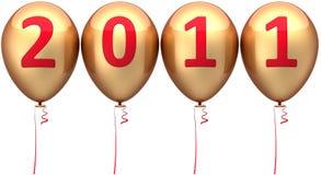 Neues Jahr 2011 Datumballone (Mieten) Stockbilder
