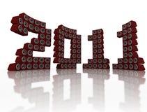 Neues Jahr 2011 des Lautsprecher-Stapels Lizenzfreie Stockfotografie