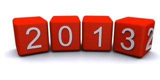 Neues Jahr 2013 änderndes rander 3D Stockfotos