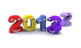 Neues Jahr 2013 änderndes rander 3D Stockfoto