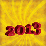 Neues Jahr 2013. Stockfoto