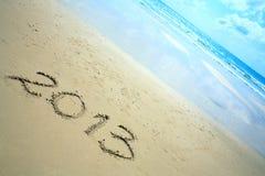 Neues Jahr 2013 auf dem Strand Stockfotografie