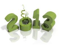 Neues Jahr 2013 in den grünen Zahlen mit Bambus Lizenzfreie Stockbilder