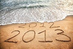 Neues Jahr 2013 kommt Stockfoto