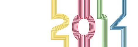 NEUES JAHR 2014 Lizenzfreies Stockfoto