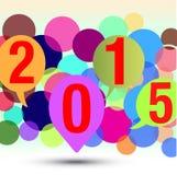 Neues Jahr 2015 Lizenzfreie Abbildung