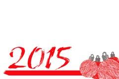 2015 neues Jahr Lizenzfreie Stockfotografie