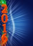 Neues Jahr 2016 Lizenzfreies Stockbild