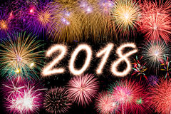 2018 neues Jahr Stockbilder