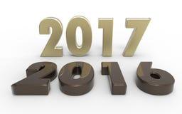 Neues Jahr 2017 Stockfotografie