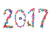 2017 neues Jahr lizenzfreie stockfotos
