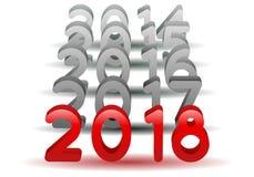 2018 neues Jahr Stockfoto