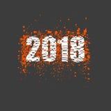 Neues Jahr 2018 Lizenzfreie Stockbilder
