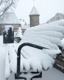 Neues Jahr 2015 altes Tallinn Lizenzfreie Stockfotografie