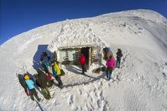 Neues Jahr auf den Steigungen von Hoverla Stockbilder