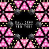Neues Jahr-Balltropfen des Times Square New York Dekorativer Illustrationssatz des Vektors Stockfoto