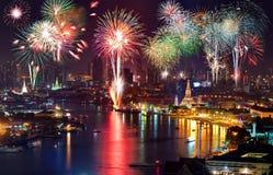 Neues Jahr Bangkoks Cerebrations Stockfotos