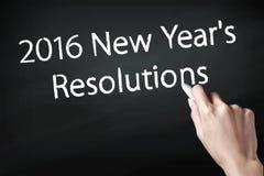 2016 neues Jahr-Beschlüsse Stockfotos