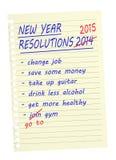 Neues Jahr-Beschlüsse - listen Sie gleiche wieder 2015 auf Lizenzfreie Stockfotos