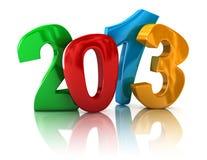Neues Jahr 2013 (Beschneidungspfad eingeschlossen) Vektor Abbildung