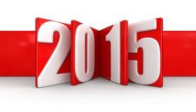 Neues Jahr 2015 (Beschneidungspfad eingeschlossen) Lizenzfreies Stockfoto