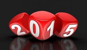 Neues Jahr 2015 (Beschneidungspfad eingeschlossen) Stockbilder