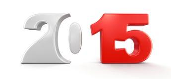 Neues Jahr 2015 (Beschneidungspfad eingeschlossen) Stockfotografie